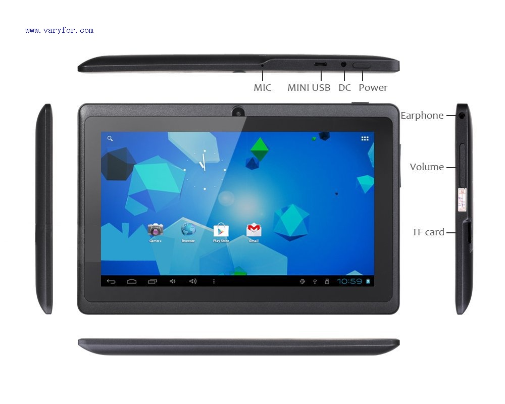 7 inch Cheapest tablet pc Q8 A33