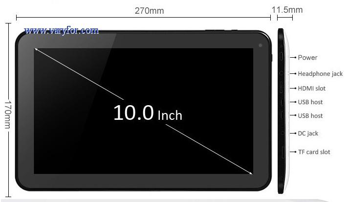 10.1inch Android 4.4 tablet pc Allwinner A31s